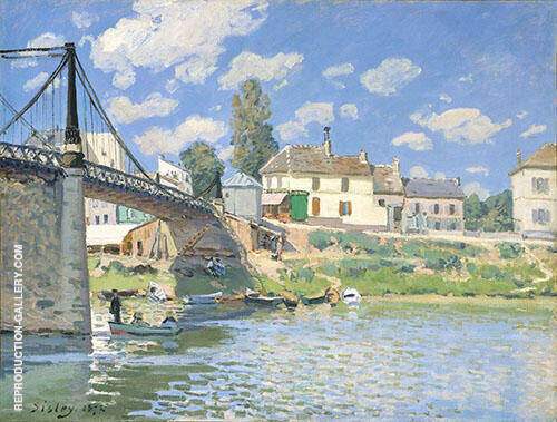 Bridge at Villeneuve la Garenne 1872 Painting By Alfred Sisley