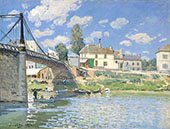Bridge at Villeneuve la Garenne 1872 By Alfred Sisley