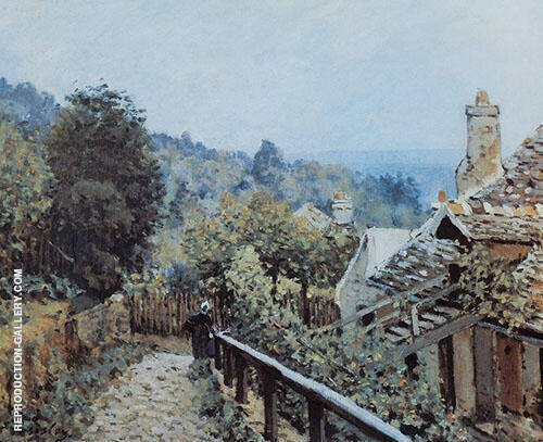 Sentier de la Mi cote Louveciennes 1873 By Alfred Sisley Replica Paintings on Canvas - Reproduction Gallery