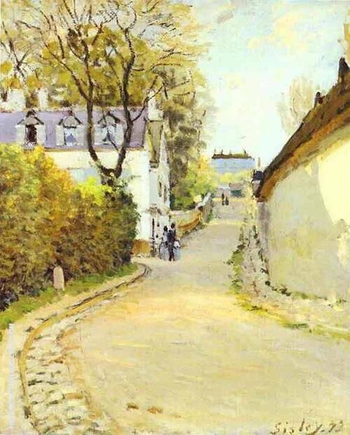 Rue de la Princesse Louveciennes 1873 Painting By Alfred Sisley