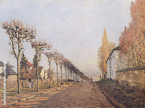 Chemin de la Machine Louveciennes 1873 By Alfred Sisley Replica Paintings on Canvas - Reproduction Gallery