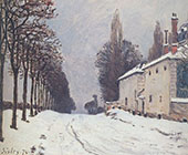 Snow on the Road Louveciennes 1874 By Alfred Sisley