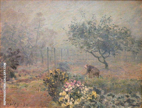 Foggy Morning Voisins 1874 By Alfred Sisley Replica Paintings on Canvas - Reproduction Gallery
