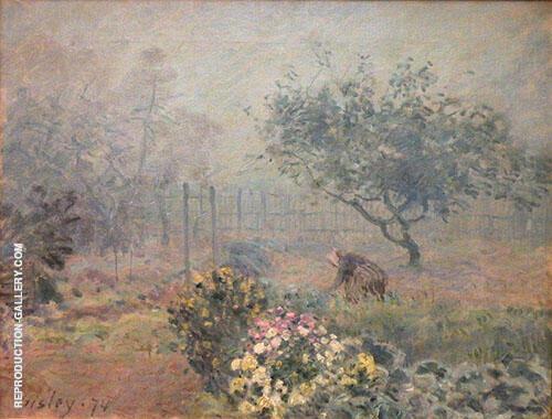 Foggy Morning Voisins 1874 By Alfred Sisley