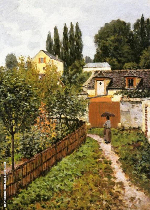 Garden Path in Louveciennes 1873 Painting By Alfred Sisley