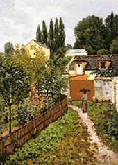 Garden Path in Louveciennes 1873 By Alfred Sisley
