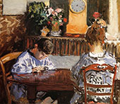 The Lesson 1874 By Alfred Sisley
