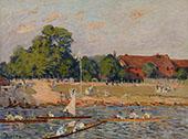 Regatta at Hampton Court 1874 By Alfred Sisley