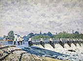 Molesey Weir Morning 1874 By Alfred Sisley