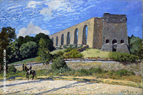 The Aqueduct at Marly 1874 By Alfred Sisley Replica Paintings on Canvas - Reproduction Gallery