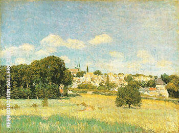 View of Marly le Roi Sunshine 1876 By Alfred Sisley - Oil Paintings & Art Reproductions - Reproduction Gallery