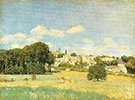 View of Marly le Roi Sunshine 1876 By Alfred Sisley
