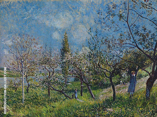 Orchard in Spring 1881 By Alfred Sisley Replica Paintings on Canvas - Reproduction Gallery