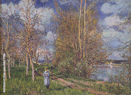 Small Meadows in Spring By c 1881 By Alfred Sisley Replica Paintings on Canvas - Reproduction Gallery