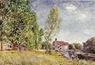 Martrat's Boatyard, Moret-sur-Loing c 1883 By Alfred Sisley