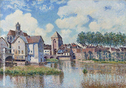 Moret sur Loing 1891 By Alfred Sisley Replica Paintings on Canvas - Reproduction Gallery