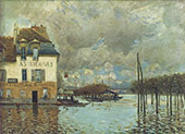 Flood at Port Marly 1876 By Alfred Sisley