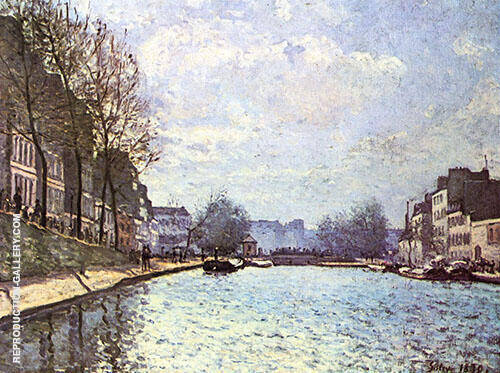 The Canal Saint Martin Paris 1870 By Alfred Sisley