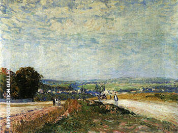 The Road to Montbuisson at Louveciennes 1875 By Alfred Sisley