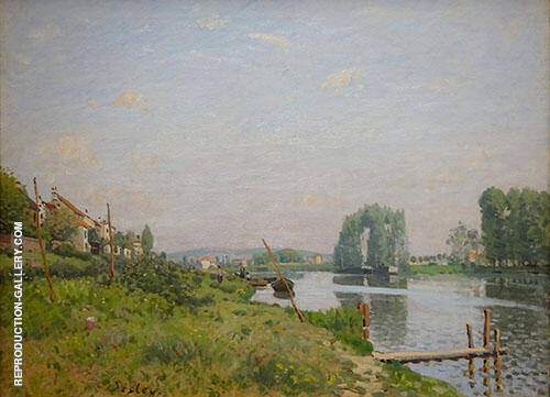 The L'ile Saint Denis 1872 By Alfred Sisley