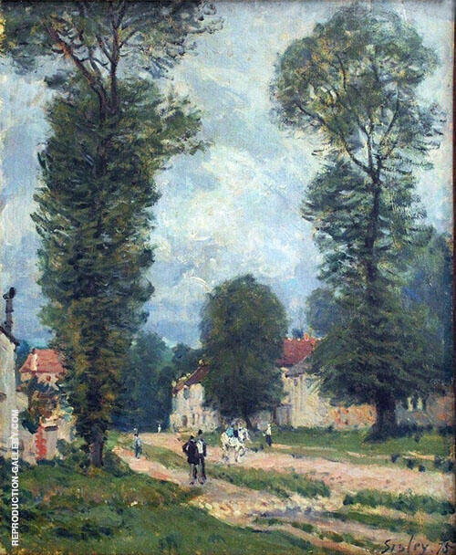 The Road to Versailles By Alfred Sisley