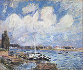 Boats on the Seine c 1877 By Alfred Sisley
