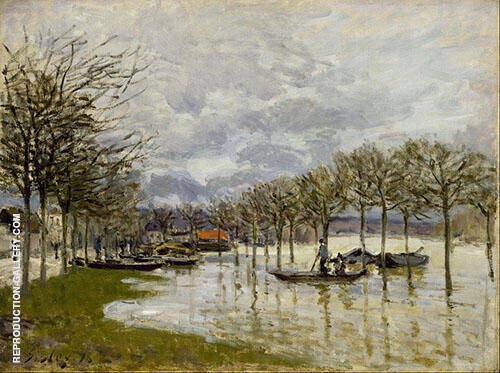 The Flood on the Road to Saint Germain 1876 By Alfred Sisley