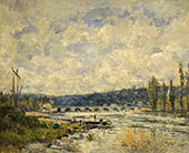 The Bridge at Sevres 1877 By Alfred Sisley