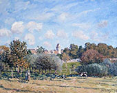 The Bell Tower at Noisy le Roi Autumn 1874 By Alfred Sisley
