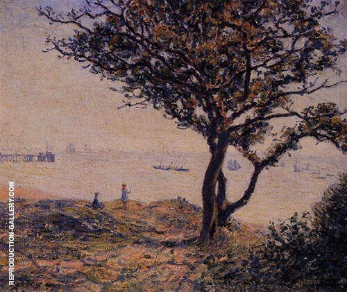 The Shipping Lanes at Cardiff with Penarth Pier 1897 By Alfred Sisley