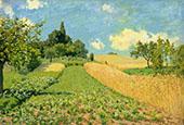 Wheatfields or Cornfields near Argenteuil 1873 By Alfred Sisley