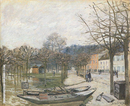 The Floods at Port Marly 1876 By Alfred Sisley Replica Paintings on Canvas - Reproduction Gallery
