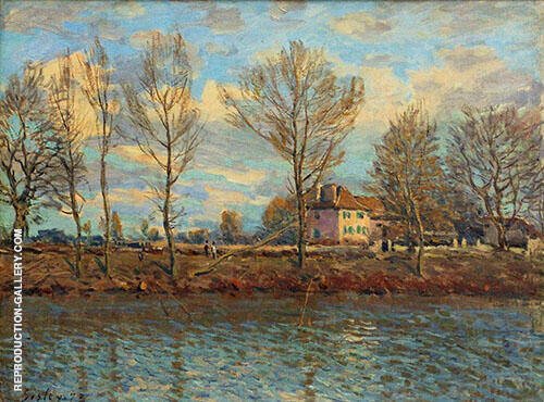 Island of the Grande Jatte 1873 By Alfred Sisley Replica Paintings on Canvas - Reproduction Gallery