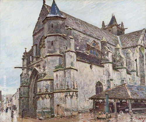 Notre Dame de Moret im Morgenregen 1893 By Alfred Sisley Replica Paintings on Canvas - Reproduction Gallery