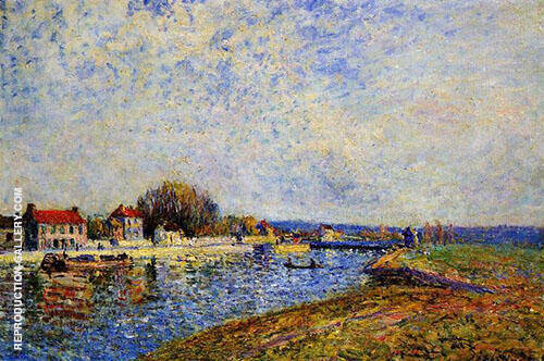 Weir on the Canal du Loing at Saint Mammes 1884 By Alfred Sisley