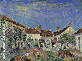 A Farmyard at Sablons 1885 By Alfred Sisley - Oil Paintings & Art Reproductions - Reproduction Gallery