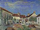A Farmyard at Sablons 1885 By Alfred Sisley
