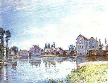 The Loing below the Bridge at Moret 1892 By Alfred Sisley