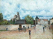 The Bridge at Moret in The Rain 1888 By Alfred Sisley