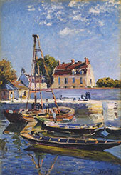 The Boats Saint Mammes 1885 By Alfred Sisley