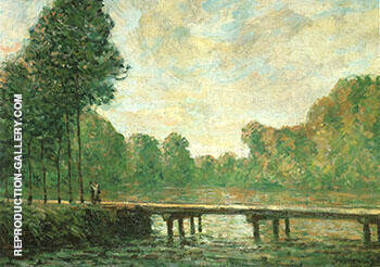 Footbridge on the Orvanne 1896 By Alfred Sisley Replica Paintings on Canvas - Reproduction Gallery