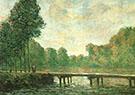 Footbridge on the Orvanne 1896 By Alfred Sisley