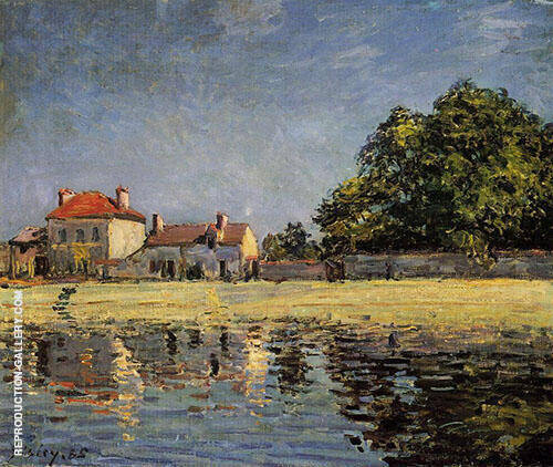 Beside the Loing Saint Mammes 1890 By Alfred Sisley