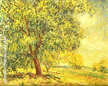 Walnut Trees at Sablon 1885 By Alfred Sisley - Oil Paintings & Art Reproductions - Reproduction Gallery