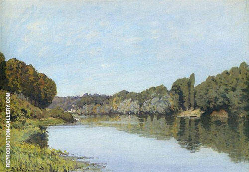 The Seine at Bougival 1879 By Alfred Sisley Replica Paintings on Canvas - Reproduction Gallery