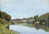 The Seine at Bougival 1879 By Alfred Sisley