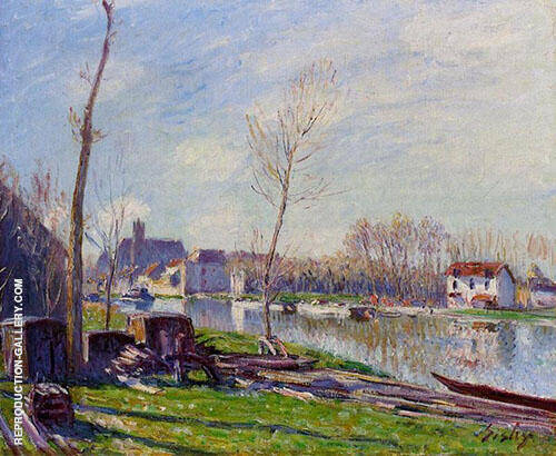 The Boatyard at Matrat Moret sur Loing 1888 By Alfred Sisley