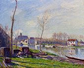 The Boatyard at Matrat Moret sur Loing 1888 By Alfred Sisley
