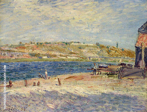 The Banks of the River at Saint Mammes 1884 Painting By Alfred Sisley