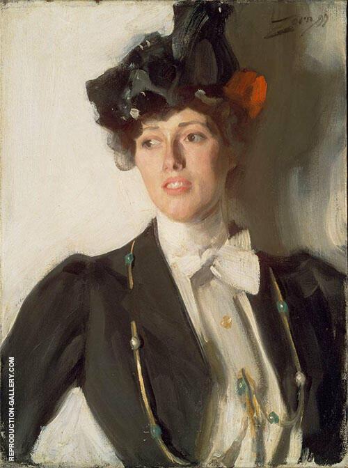 Martha Dana Mrs. William R Mercer By Anders Zorn